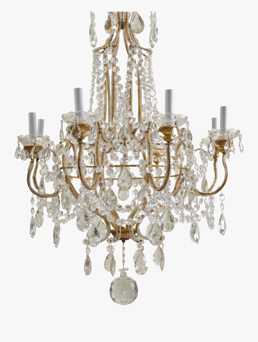 Chandelier Clipart Transparent Background - Crystal Chandelier Gold Chandelier Transparent Background, Transparent Clipart