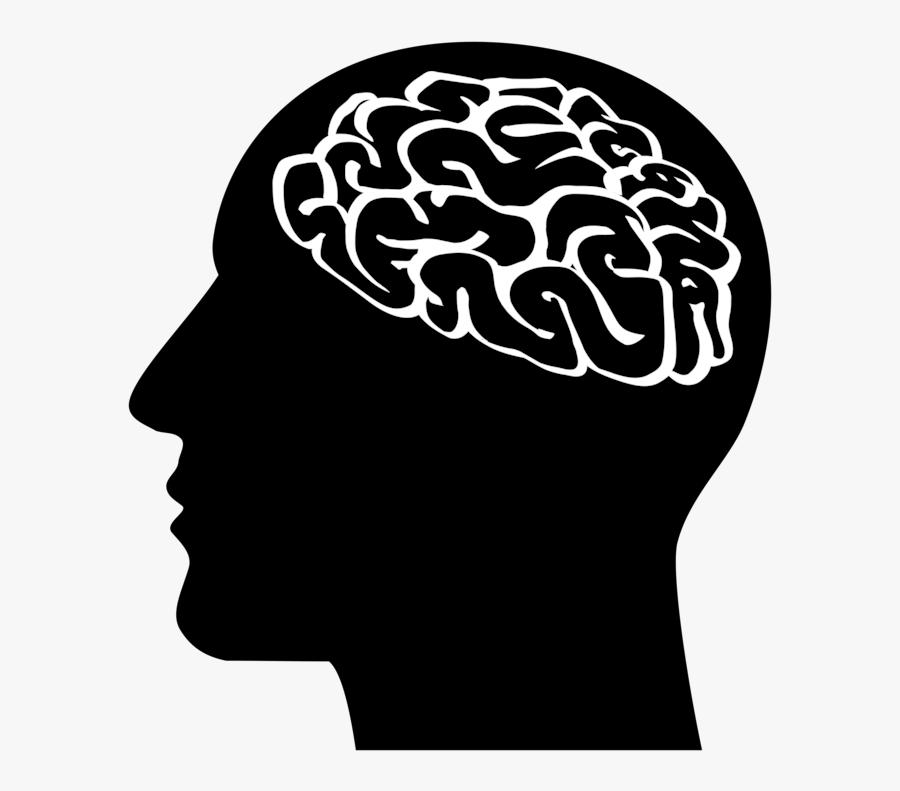 Head,neck,organ - Brain Silhouette, Transparent Clipart