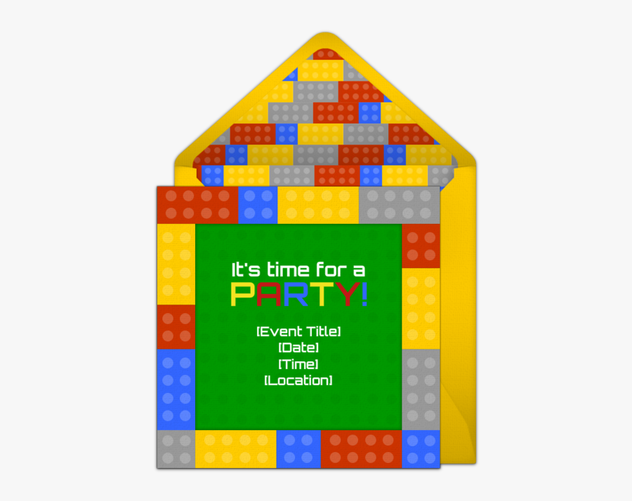 Free Blocks Invitations Pinterest - Save The Date Free Lego Template, Transparent Clipart