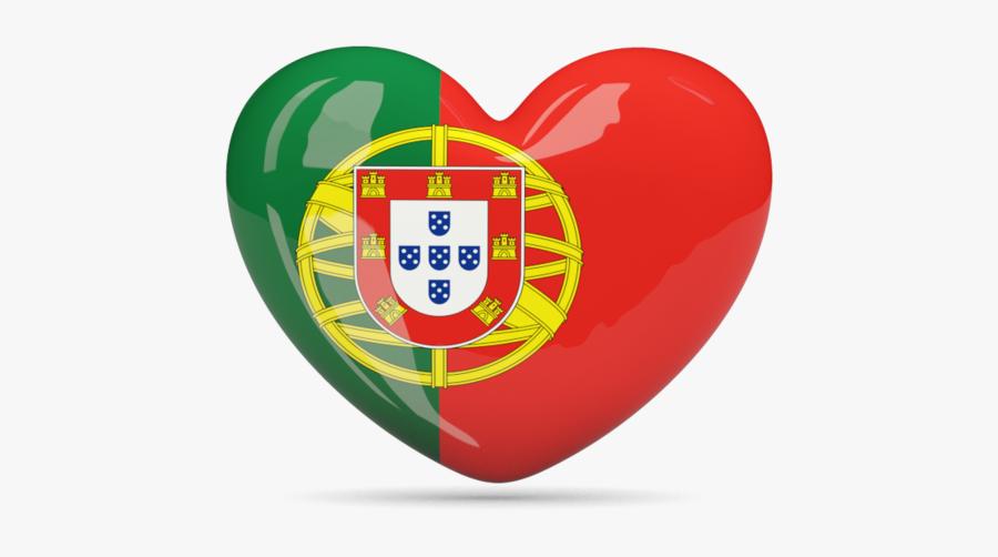 Clip Art Flag Of Portugal - Portugal Flag Heart Png, Transparent Clipart