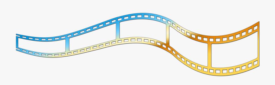 Gold Film Strip Png , Transparent Cartoons - Colorful Film Strip Png, Transparent Clipart