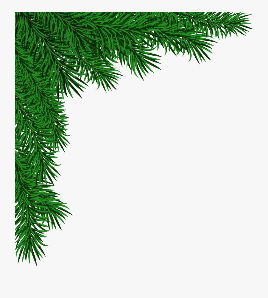 Clip Art Pine Branches Corner Clipart Black And White - Transparent Christmas Corner Png, Transparent Clipart