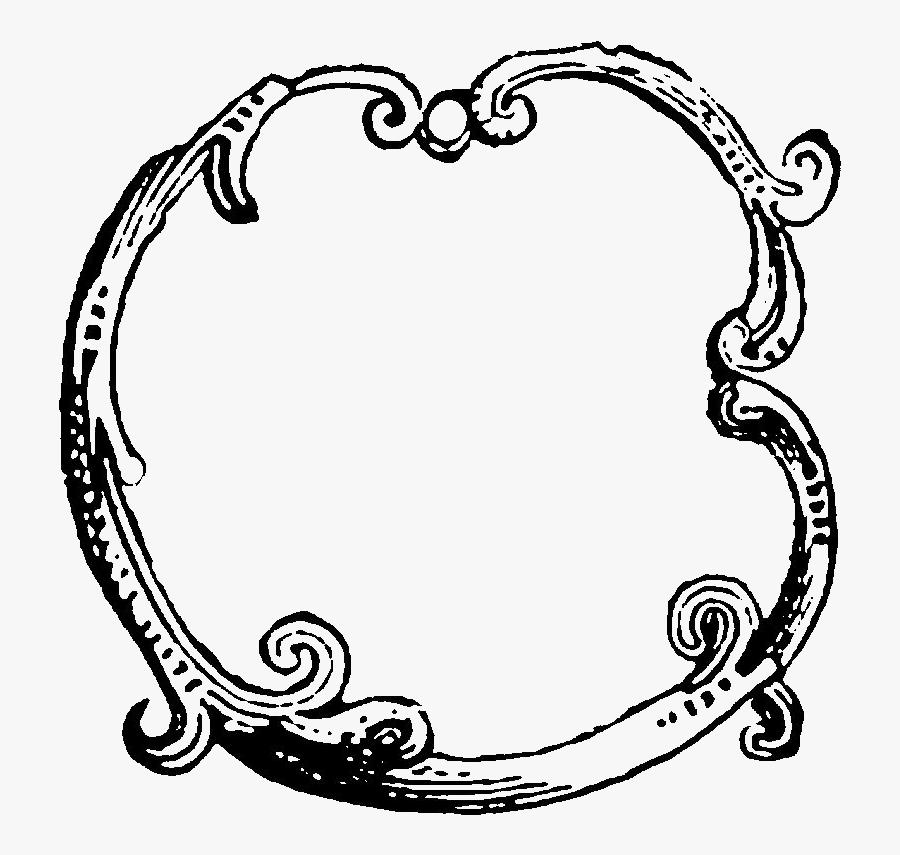 Transparent Border Frame Circle, Transparent Clipart