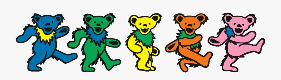 Grateful Dead Dancing Bears, Transparent Clipart