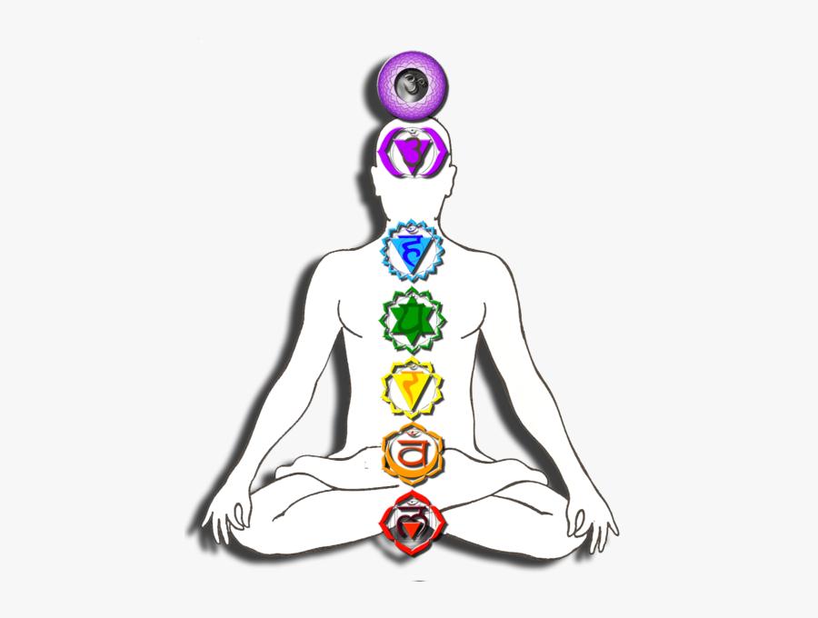 7 Chakras - Chakras In Human Body Transparent, Transparent Clipart