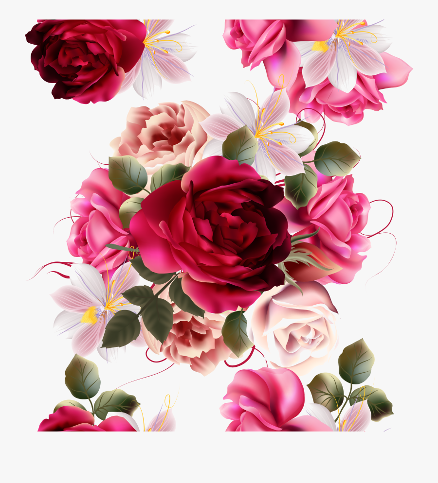 Rose Flower Photography - Beautiful Rose Flowers Bouquet Drawing, Transparent Clipart