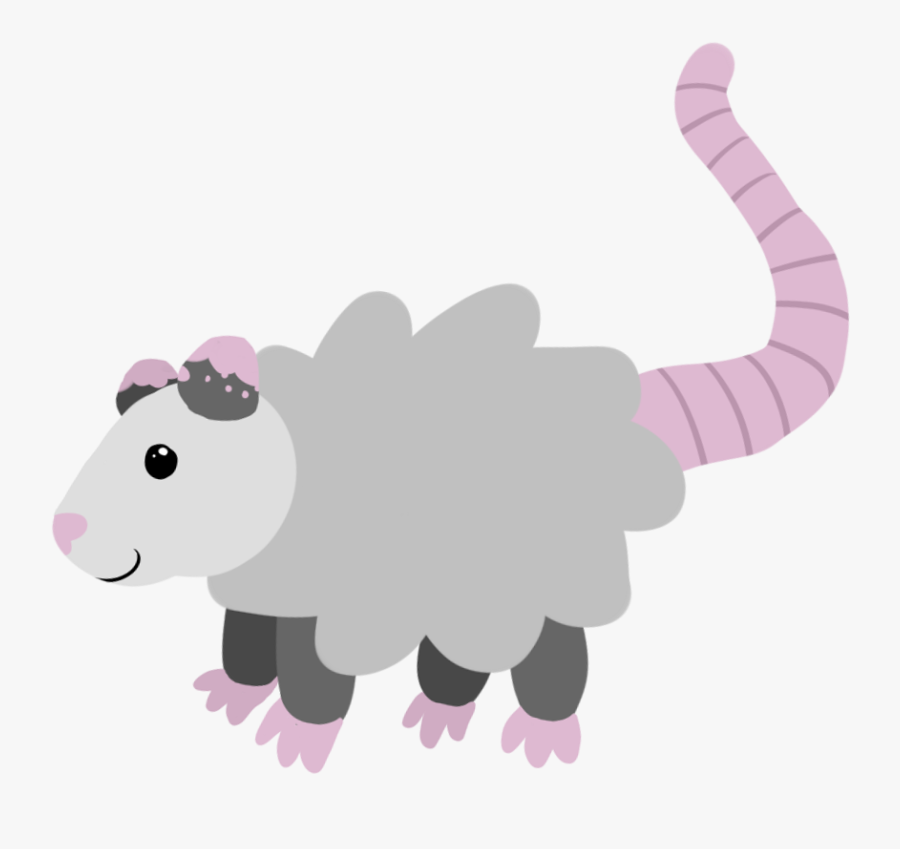 """here Is The Opossum Of Purity, For Any Purification - Cartoon, Transparent Clipart"