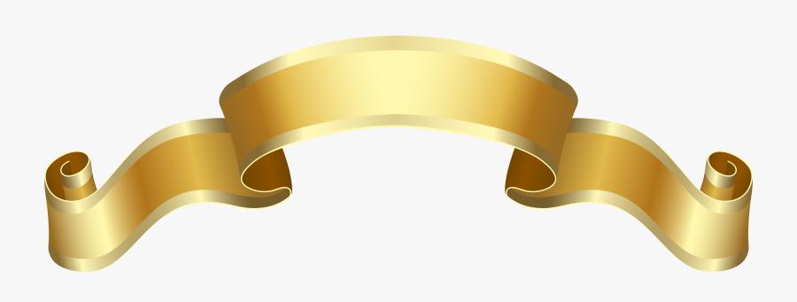 Banner Gold Deco Png - Banner Gold Deco, Transparent Clipart