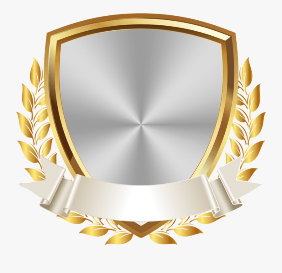 Free Png Gold White Badge With Banner Png Images Transparent - Transparent Background Gold Badge Png, Transparent Clipart