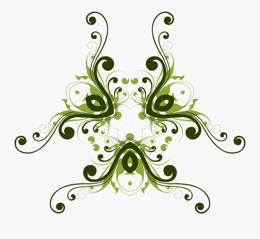 Flourish Flower Design 9 Clip Arts - Floral Design, Transparent Clipart