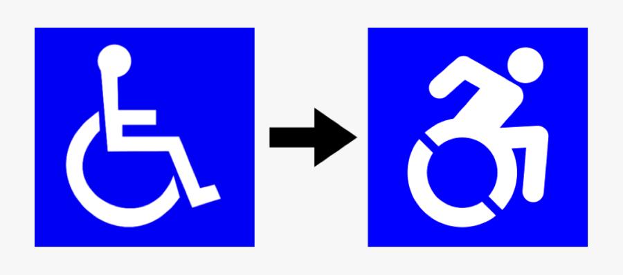 Forward Movement Wheel Chair Symbols - New Handicap Parking Signs, Transparent Clipart