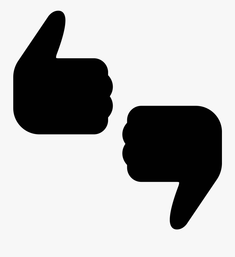 Transparent Thumbs Up And Down Png - Thumbs Up And Down Svg, Transparent Clipart