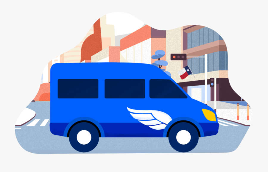 Supershuttle San Antonio - Super Shuttle Illustration, Transparent Clipart