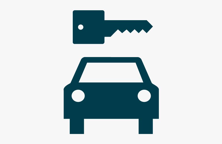 Transport-rentalcar - Traffic Symbols Two Cars, Transparent Clipart