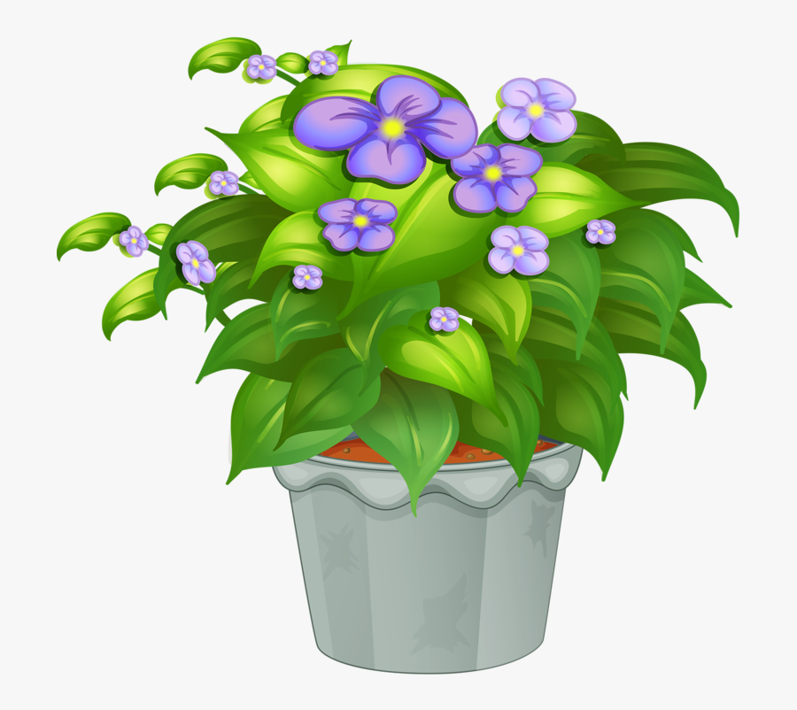 Flower Pot Vector Png, Transparent Clipart