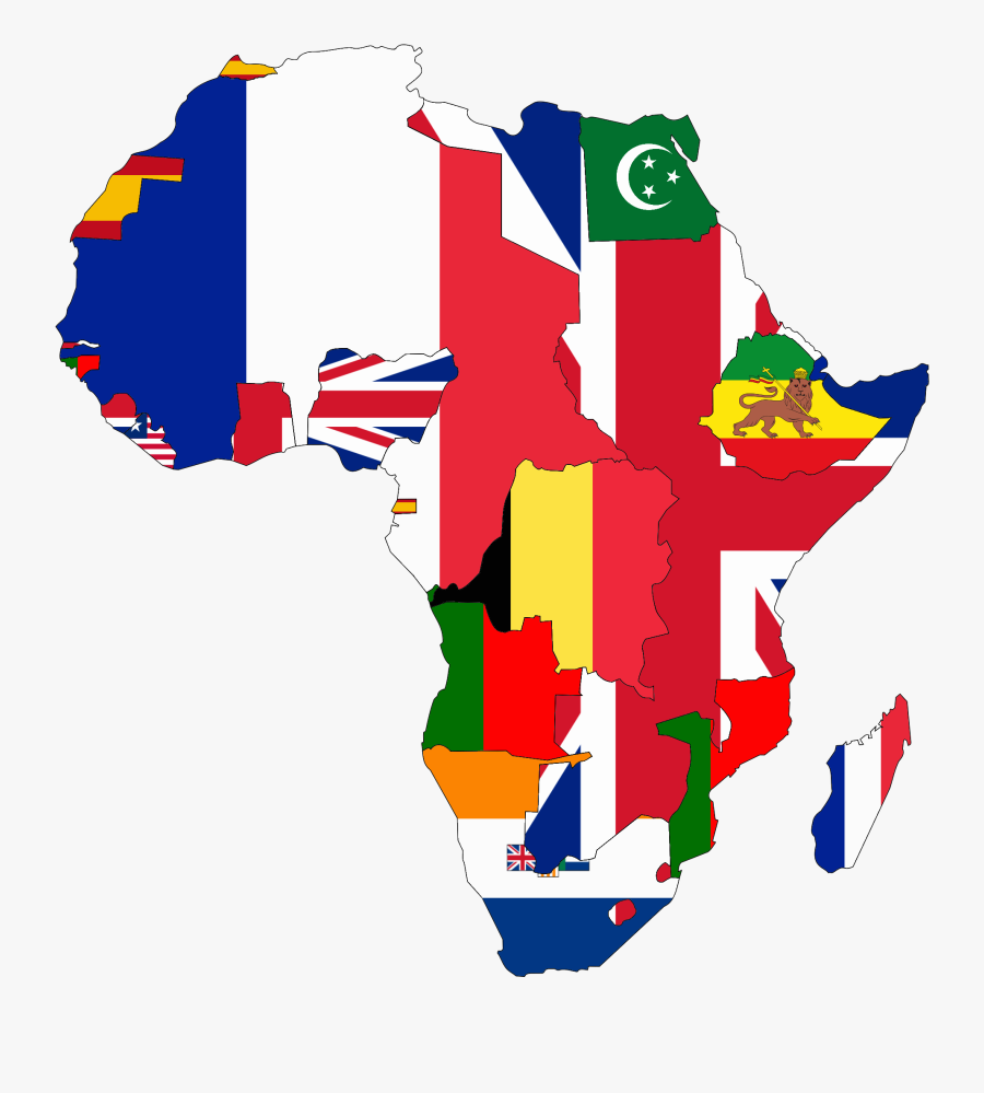 Flag Map Of Colonial Africa - Colonial Africa Flag Map, Transparent Clipart