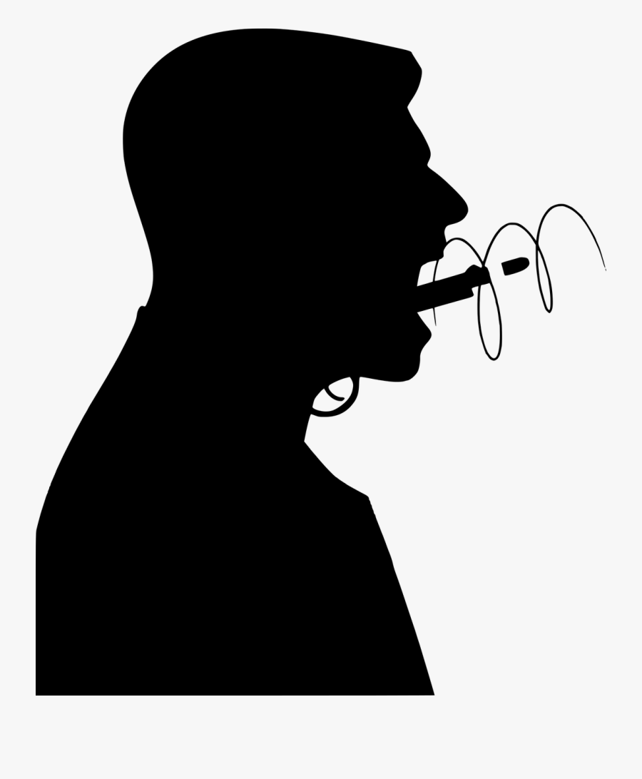 Angry, Scream, Emotion, Mouth, Gun, Rude, Hate, Shout, - Silhouette Angry Man Free, Transparent Clipart
