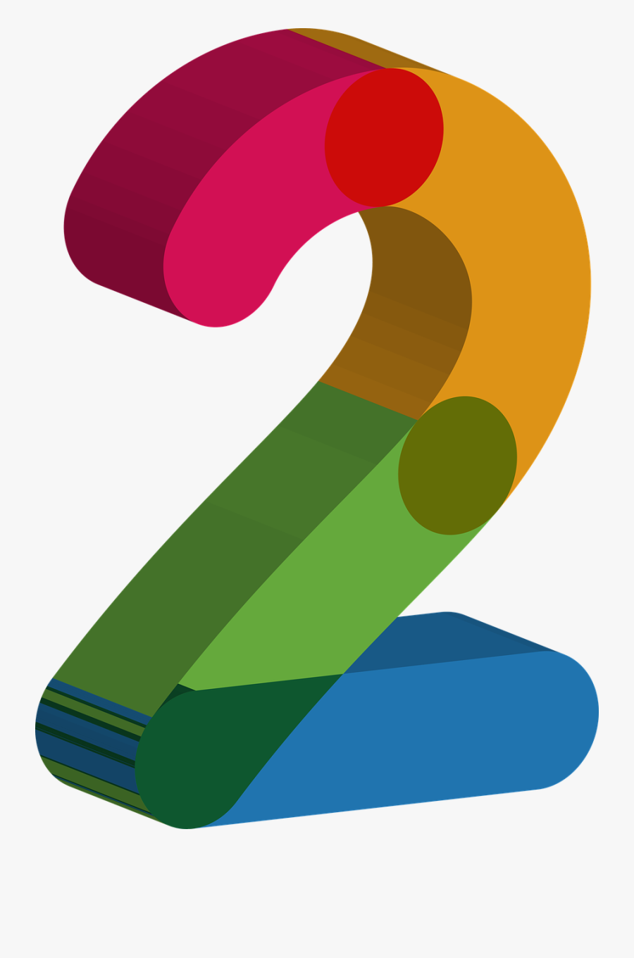 Two Number, Transparent Clipart