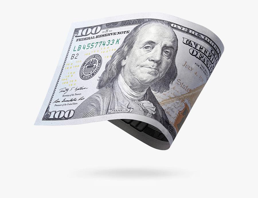 United States One Hundred Dollar Bill United States - Benjamin Franklin 100 Dolar Png, Transparent Clipart