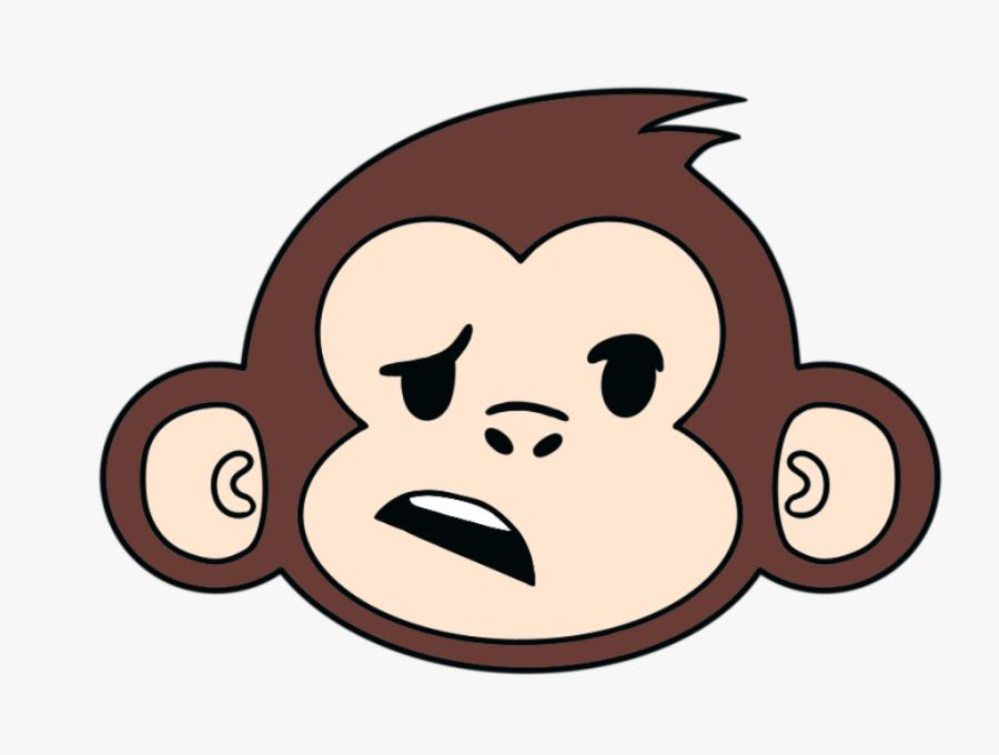 Cartoon Animated Monkey Face, Transparent Clipart