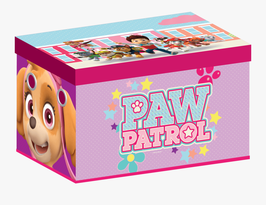 Paw Patrol Collapsible Toy Box-girl - Paw Patrol Toy Box Girl, Transparent Clipart