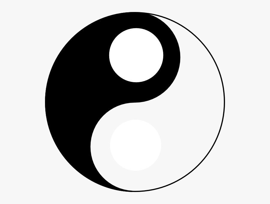 Yin Yang Without The White Dot, Transparent Clipart