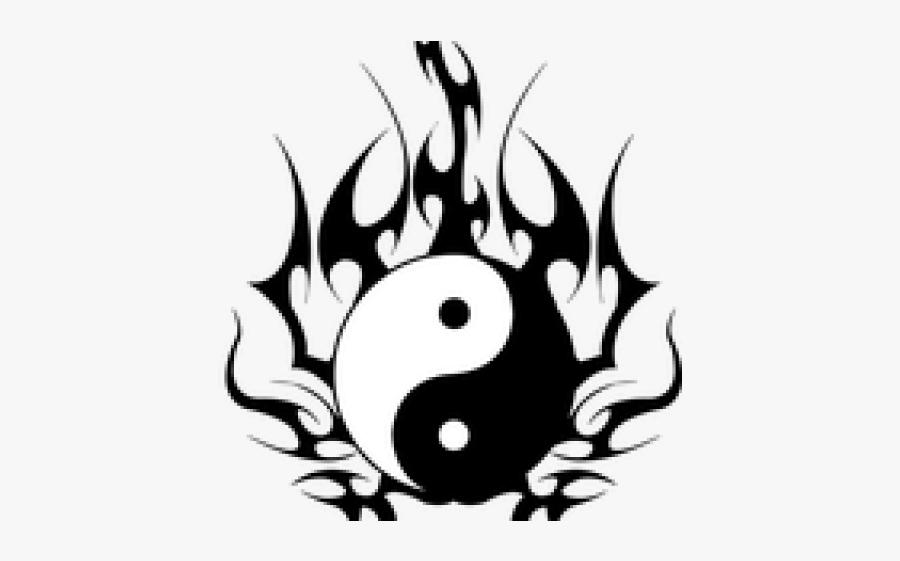 Yinyang Tattoos Clipart Sagittarius - Ying Yang Tatoo Tribal, Transparent Clipart