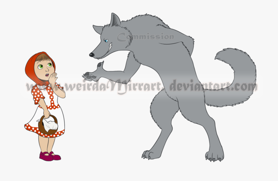 Little Riding Hood Wolf, Transparent Clipart