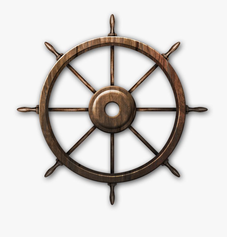 "Ship""s Wheel Steering Wheel Boat, Transparent Clipart"