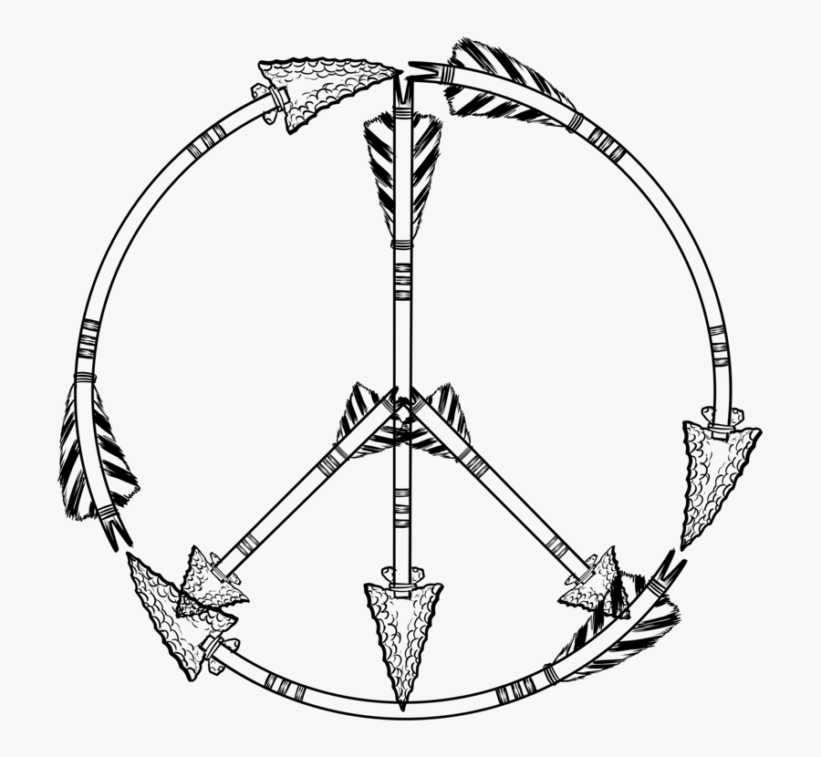 Line Art,symmetry,body Jewelry - Symbol Peace Sign Drawing, Transparent Clipart