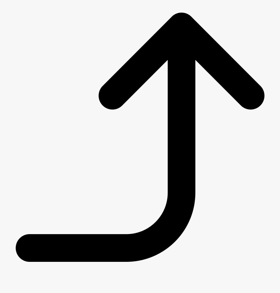 Up Arrow Key Symbol - Right Up Arrow Symbol, Transparent Clipart