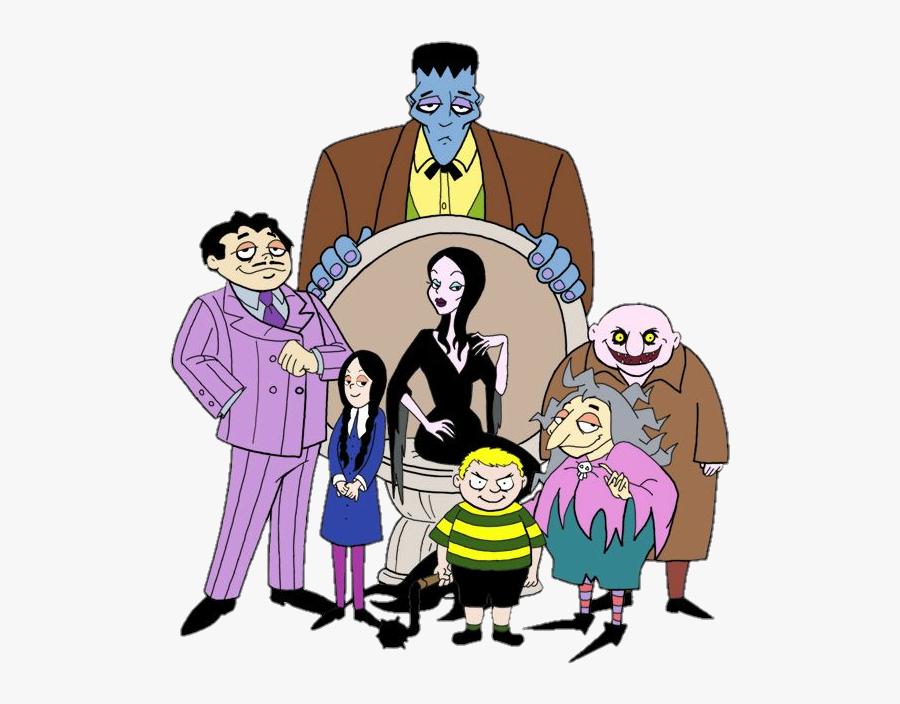 #adamsfamily - Addams Family Characters Cartoon, Transparent Clipart