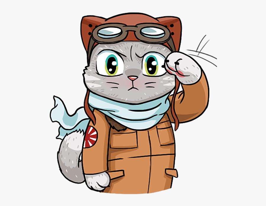 Kamikaze Cat Messages Sticker-0 Clipart , Png Download - Kamikaze Cat Stickers, Transparent Clipart