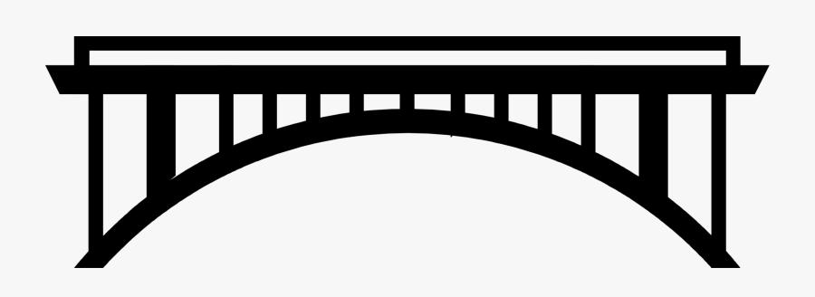 Vector Illustration Of Suspension Bridge Symbol - Bridge Symbol, Transparent Clipart