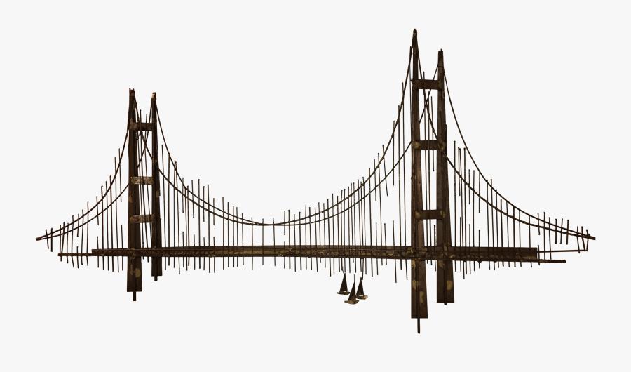 Curtis Jere Wall Sculpture Chairish - Metal Golden Gate Bridge Wall Art, Transparent Clipart