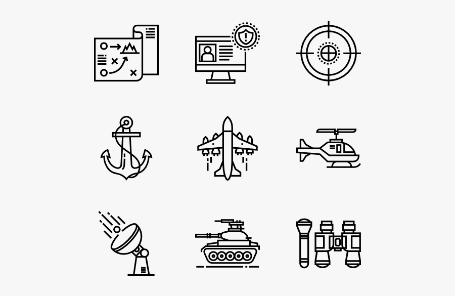 Clip Art Millitary Icons - School Icon Vector Png, Transparent Clipart