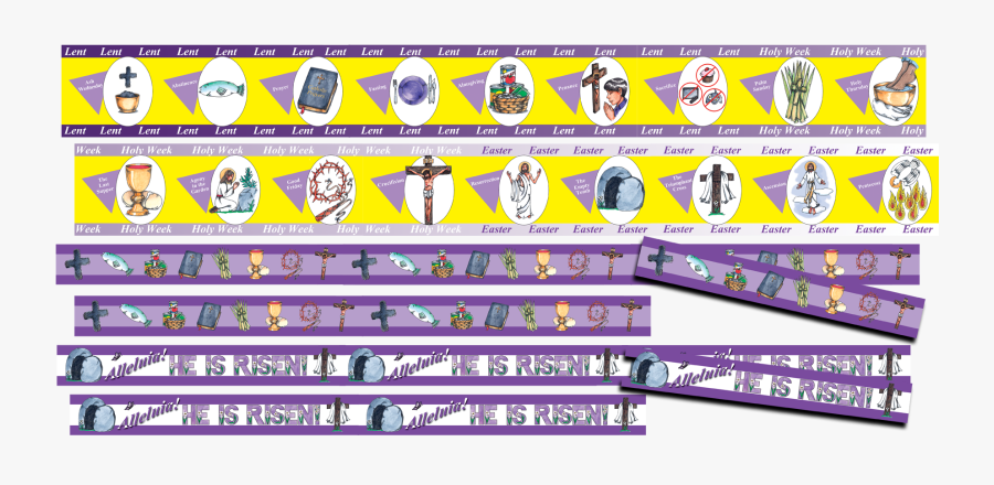 Purple Holy Week Background, Transparent Clipart