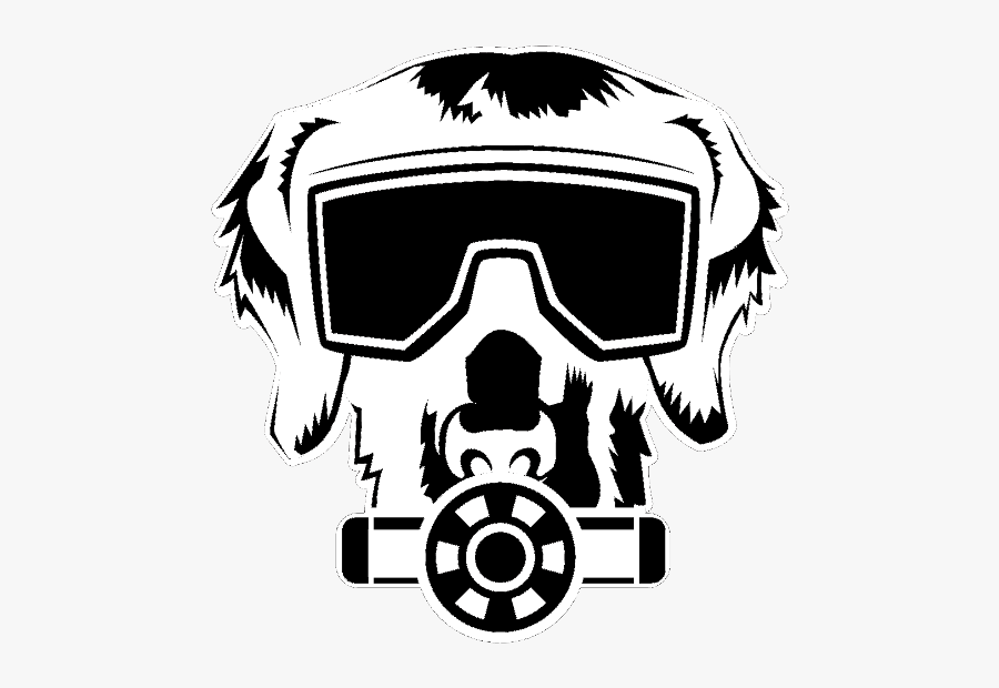 Image - Dog Gas Mask Logo, Transparent Clipart