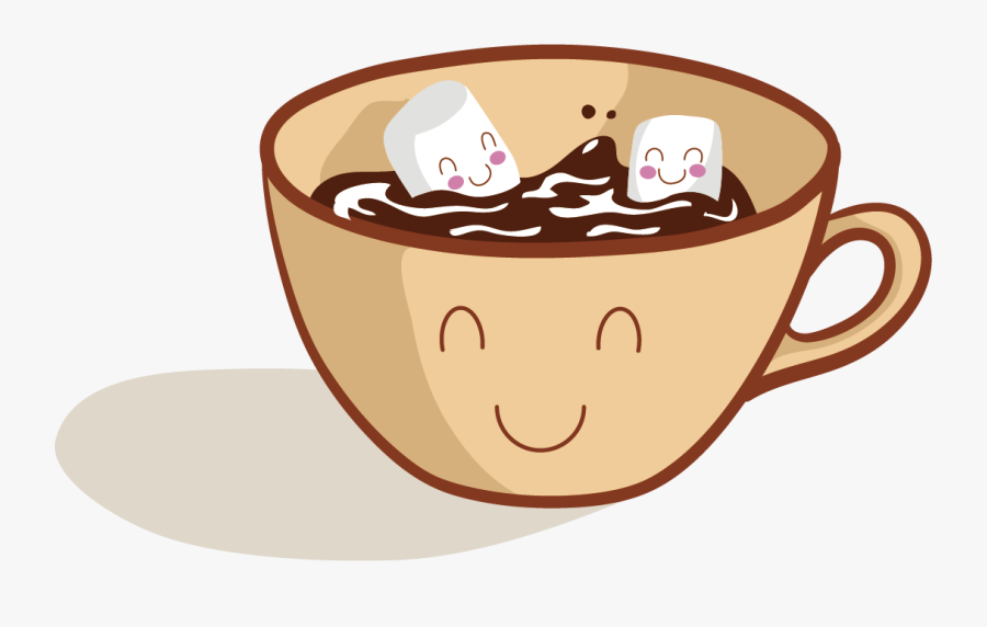 Coffee Hot Chocolate Cartoon - Cartoon Hot Chocolate Clipart, Transparent Clipart
