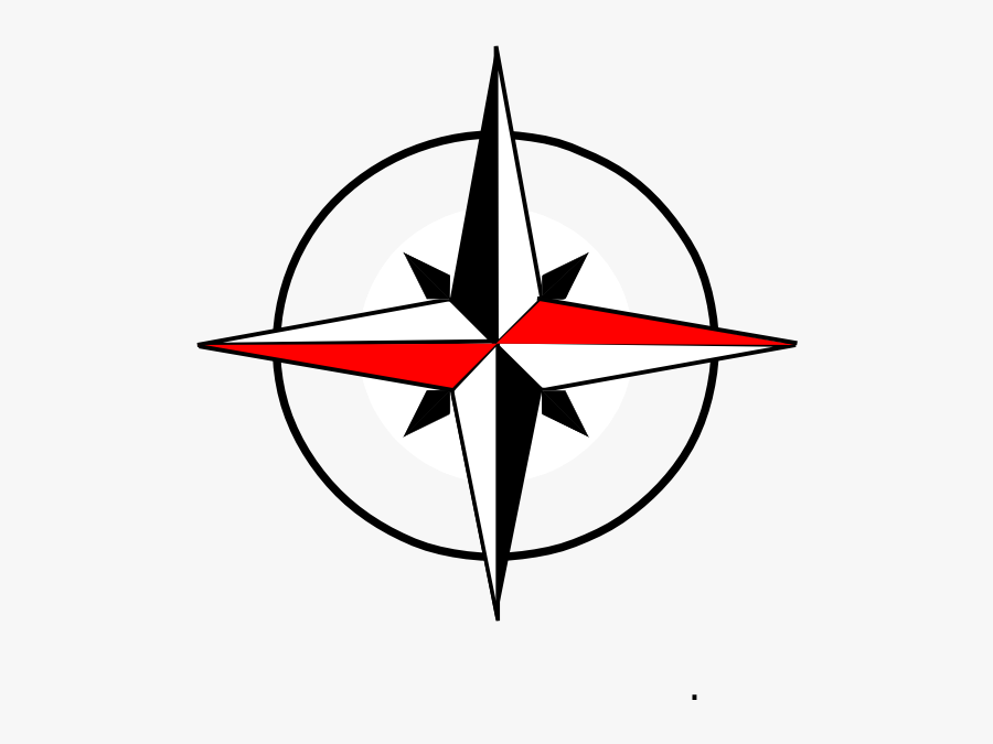 Compass Png Red - North South East West Clipart, Transparent Clipart