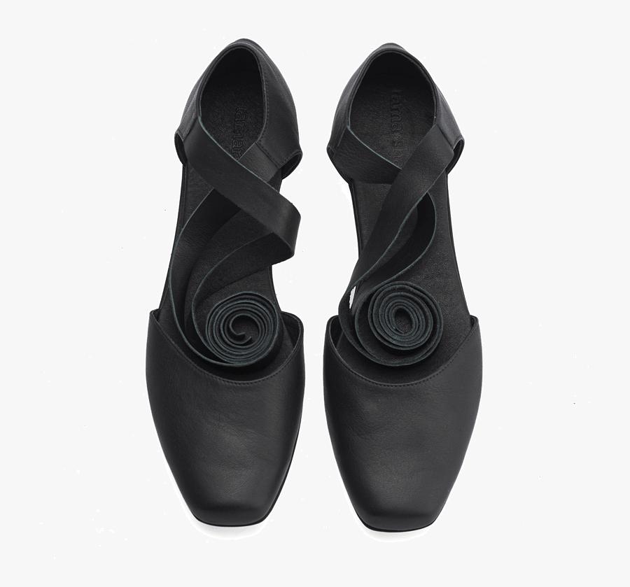 Clip Art Ballerina Shoes - נעלי בלרינה עם רצועה, Transparent Clipart