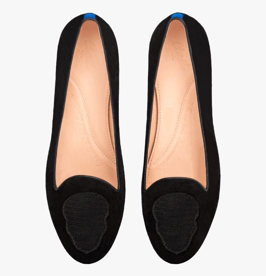 Flat Shoes Clipart Black Suede - Transparent Flat Shoes Png, Transparent Clipart