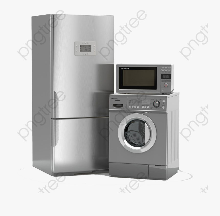 Household Electrical Equipment Refrigerator Transparent - Home Appliances Transparent Background, Transparent Clipart