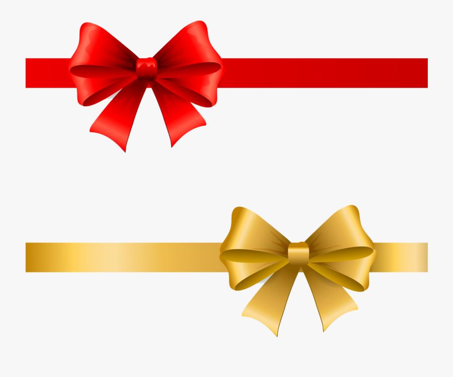 Transparent Text Ribbon Png - โบว์ สี ทอง, Transparent Clipart