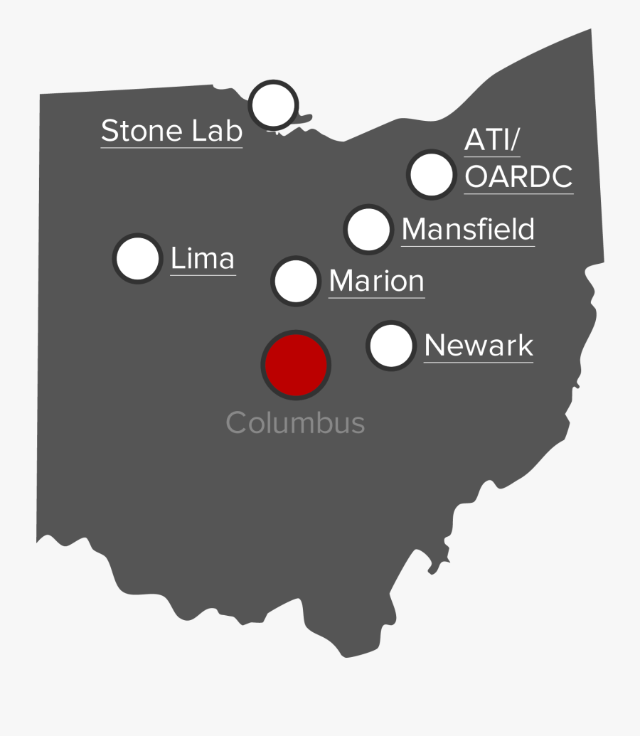 Ohio State Png - Ohio Congressional District Map By Party, Transparent Clipart