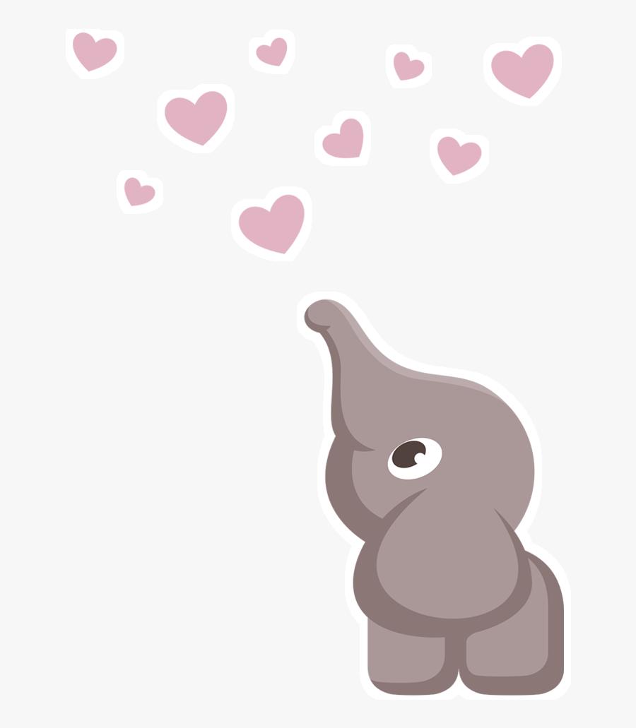 Clip Art Elefante Baby Elefante Cinza E Rosa Png Free
