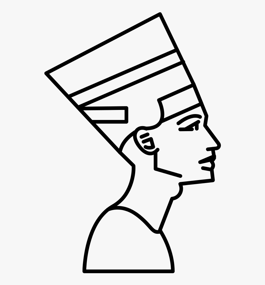Collection Of Free Nefertiti Drawing Download On Ui - King Tut Drawing Easy, Transparent Clipart