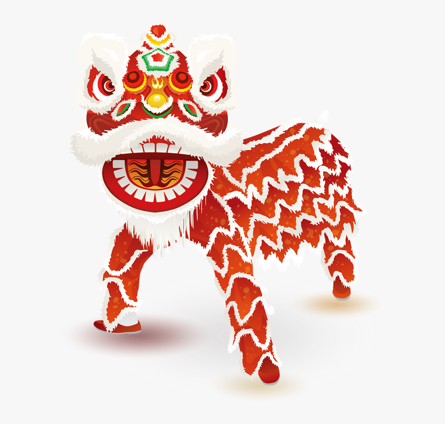 Lion Dance Png - Chinese New Year Dragon Png, Transparent Clipart