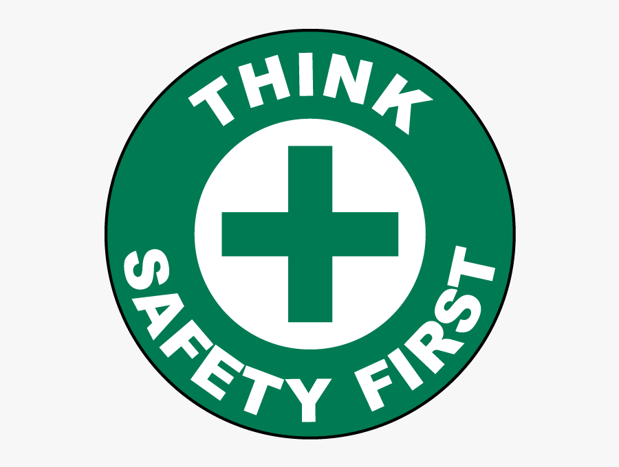 Clip Art Think Floor Sign P - Think Safety First Logo, Transparent Clipart