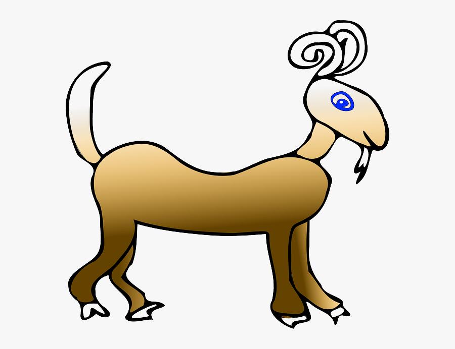 Animal Ram Clip Art - Cartoon Animals Rams, Transparent Clipart
